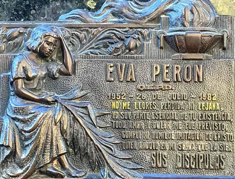 Eva Peron's final resting place,La Recoleta Cemetery