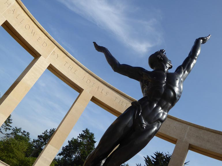 Sculpture of The Spirit of American Youth Rising from the Waves