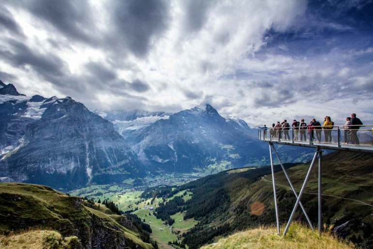 Cliff Walk, First, Bernese Oberland
