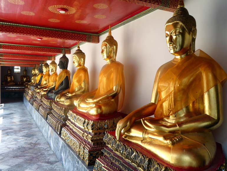 Buddha statues, Wat Pho