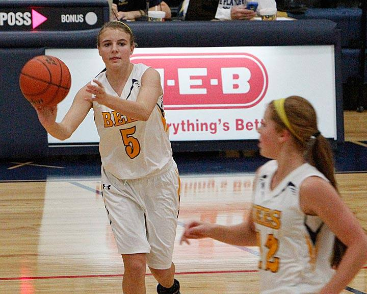 Kali Smith was 6-8 from the arc for 18 points off the bench in Stephenville's 56-44 win over Brownwood Tuesday evening at Gandy Gym. || Photo by BRAD KEITH