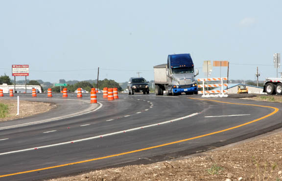 Construction on the first phase of the Dublin Loop is nearing completion and the second phases is ahead of schedule, TXDOT officials say. || BRAD KEITH photo