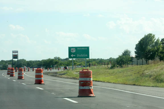 Construction on the first phase of the Dublin Loop is nearing completion and the second phases is ahead of schedule, TXDOT officials say. || JESSIE HORTON photo
