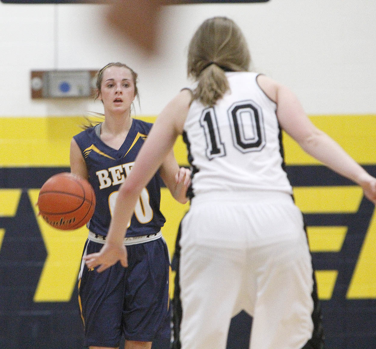 Cassidy Cline, shown in a recent home contest, led Stephenville with 12 points in Tuesday morning's win over Texarkana Texas in the Mansfield Rotary Invitational. || Photo by BRAD KEITH