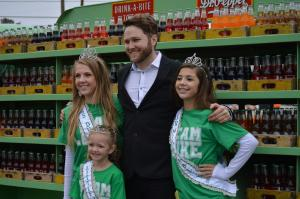 Luke Wade greets the Miss Dublin contingent. || Photo by BROOKE MENDENHALL