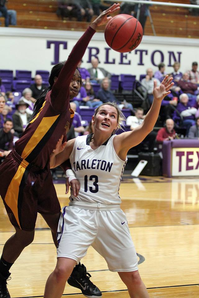 Tarleton and Raven McGrath are fifth in the Lone Star Conference, but the race is so tight the TexAnns are just one full game behind league-leading Cameron. || Photo courtesy KURT MOGONYE