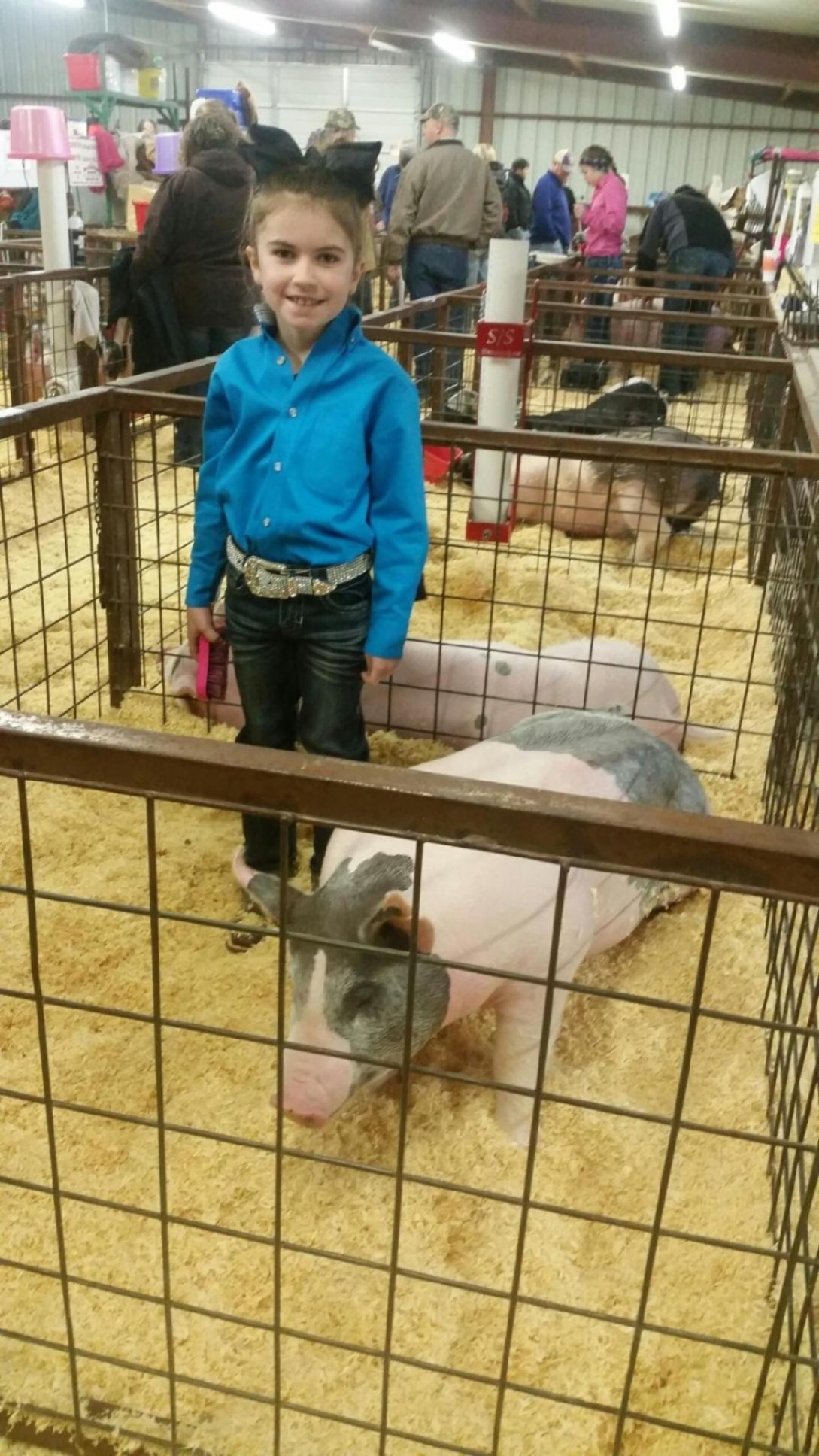 Lexi Nelms won a 2nd and 3rd with her hog this year, and won showmanship in her division. Maci Ellen, her friend who sent the photo in, said she wanted to say congrats to Nelms after all her hard work.