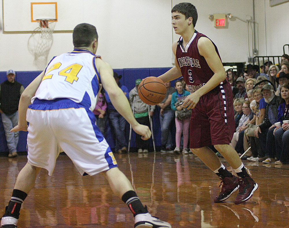 Linglevilel and guard Colbe Stoker host Huckabay in Tuesday's District 18-A championship. Tipoff is about 7 p.m. in Lingleville.    Photo by BRAD KEITH