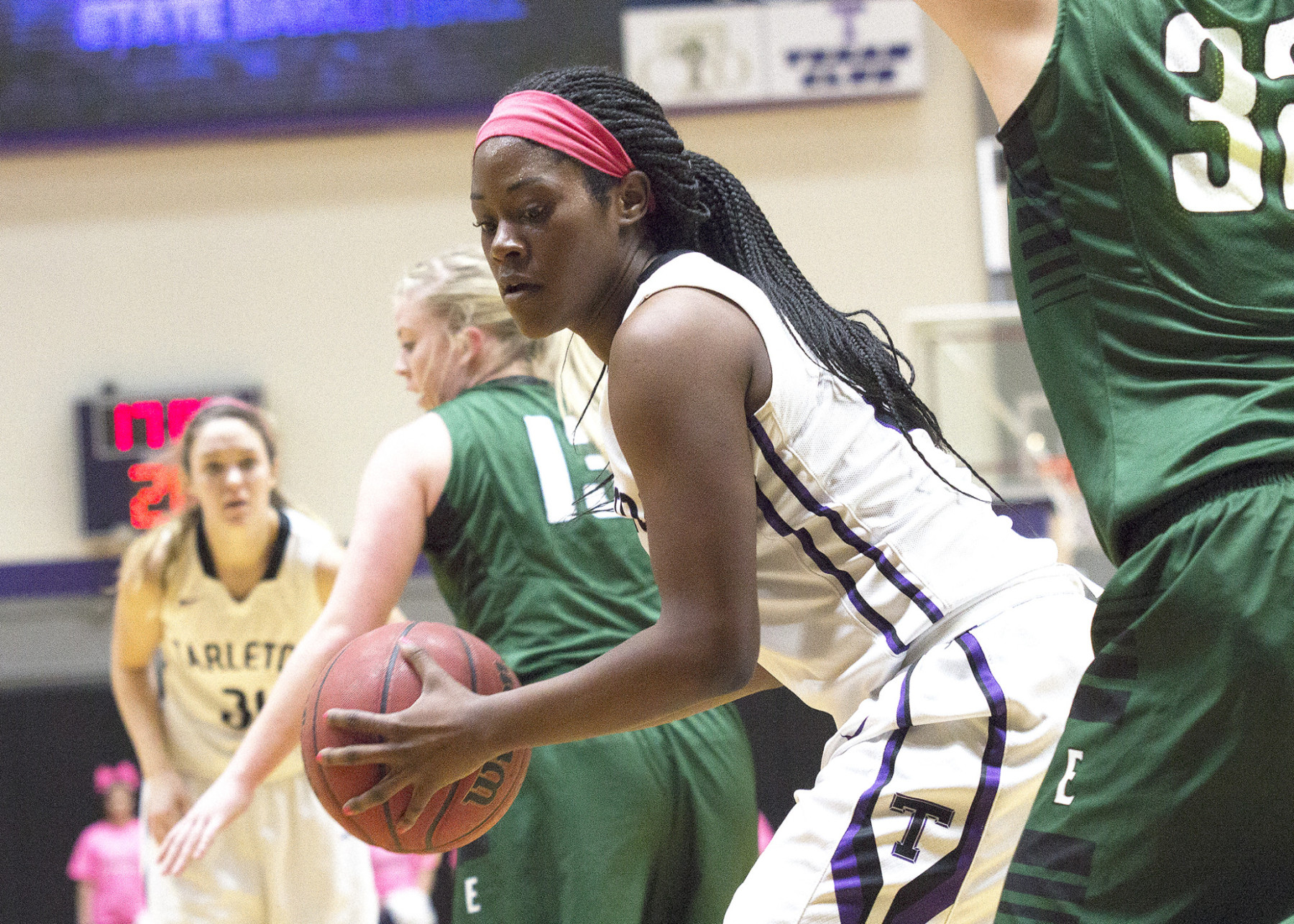 Tarleton sophomore forward Ikpeaku Iwobi had her eighth double-double Saturday night. || Photo by Dr. CHET MARTIN