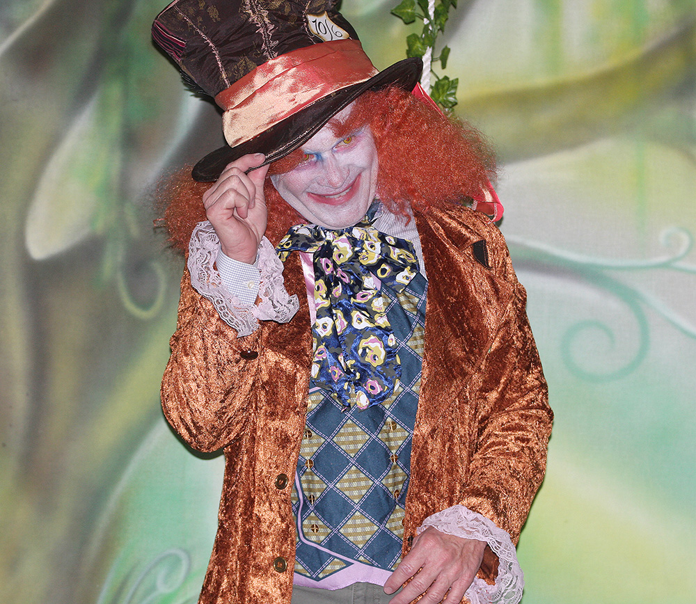 Costume Contest winner - John Baxter as the Mad Hatter