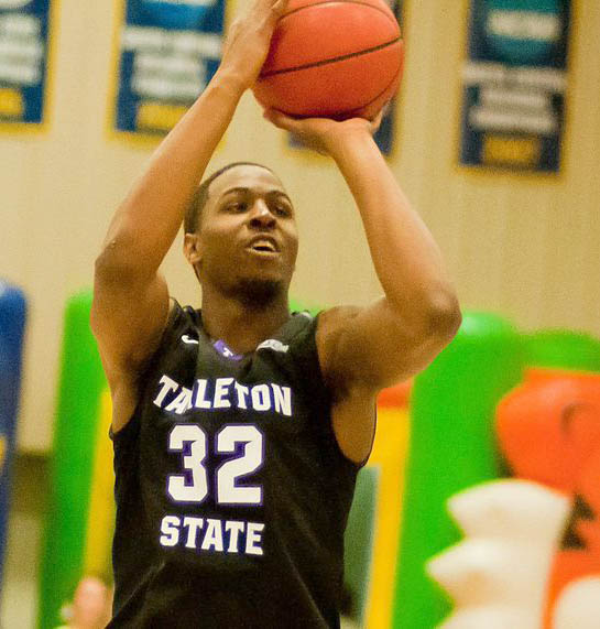 TaShawn Mabry topped 20 points for the third time in four games with 24 at Texas A&M-Commerce Saturday. || Photo by NATHAN BURAL/Tarleton