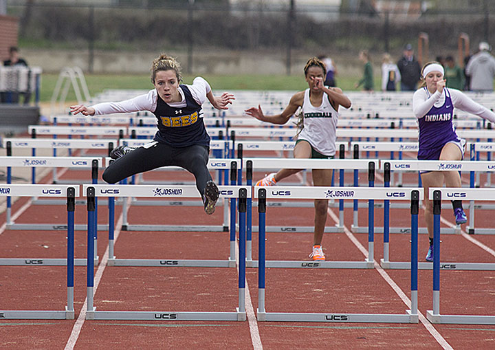 Hailey Martin had the lone victory for Stephenville's girls, winning the 100 meter hurdles. || Photo courtesy Dr. CHET MARTIN