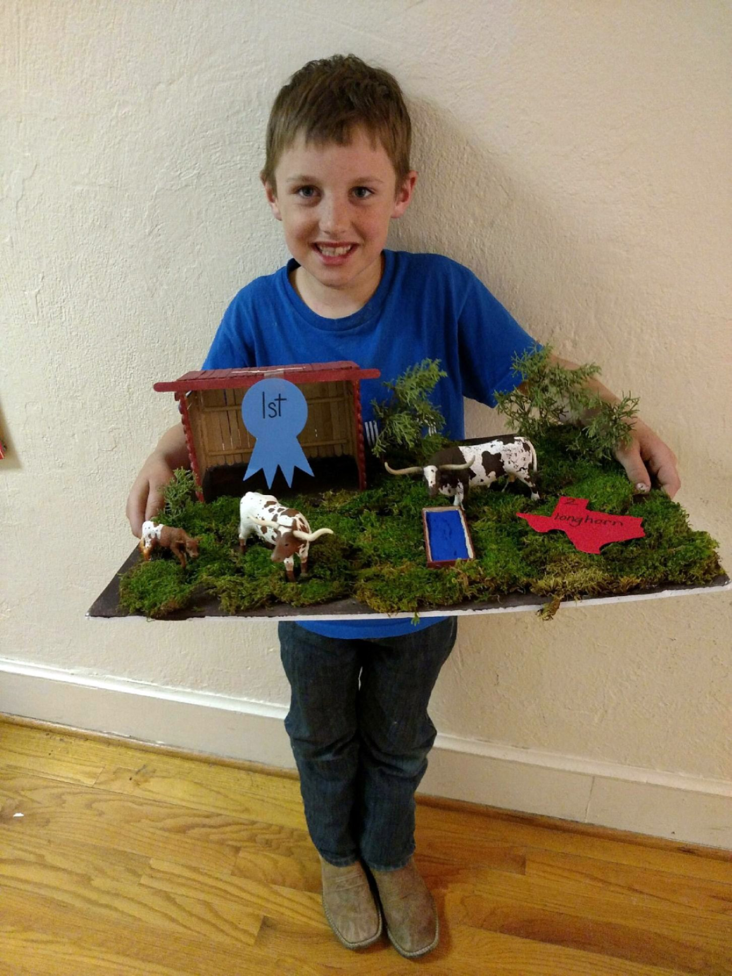 Kolter Jackson took first place with his Texas State Symbol project - Longhorns.