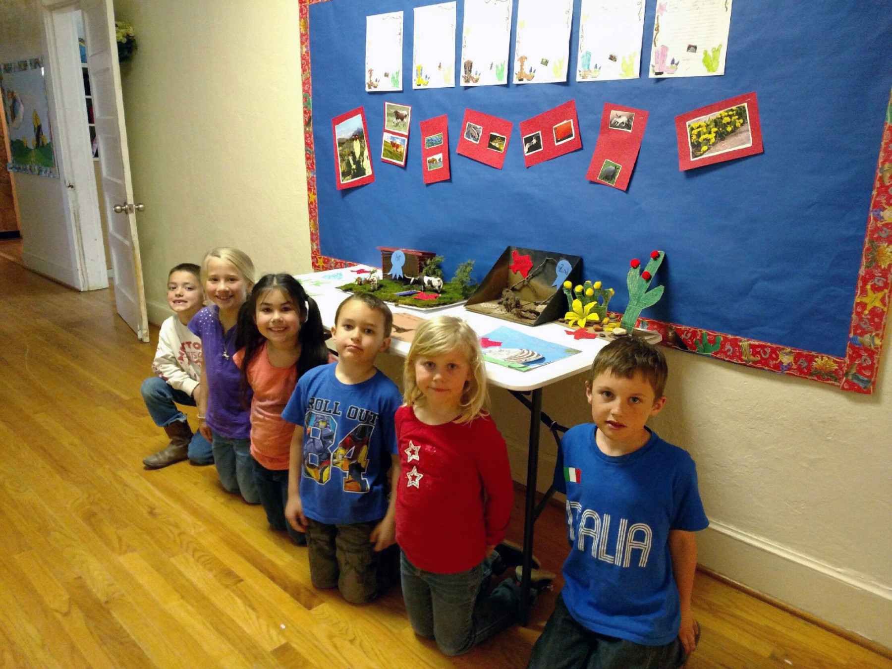 Morgan Mill ISD's first grade class presented their Texas State Symbols Projects.