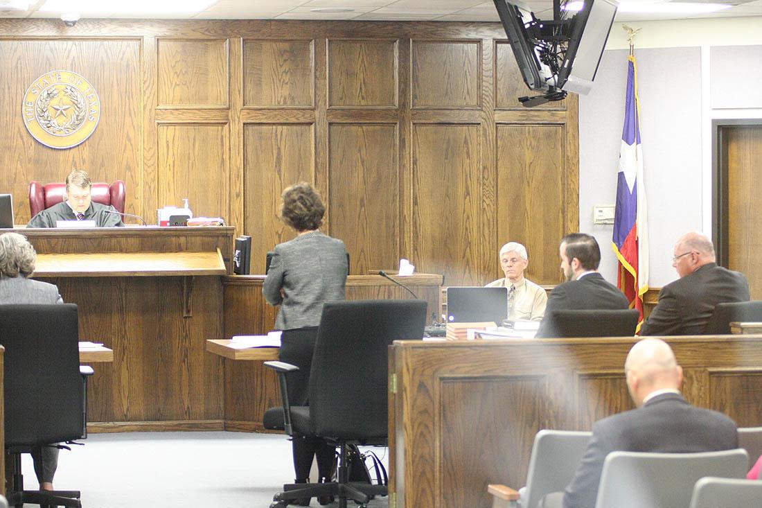 Dublin ISD attorney Sara Leon presented her case to District Judge Jason Cashon Monday morning. || BRAD KEITH photo