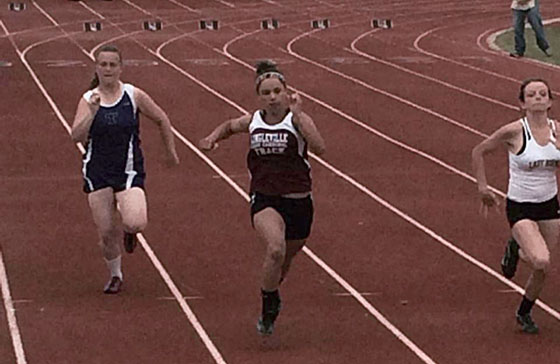 Laryssa Pierson placed sixth in the 100 meter dash at area Wednesday. || Courtesy MONICA FENN