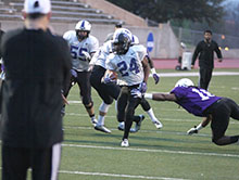 Running back is a position where head coach Cary Fowler says Tarleton is particularly deep. || Photo by BRAD KEITH/TheFlashToday.com
