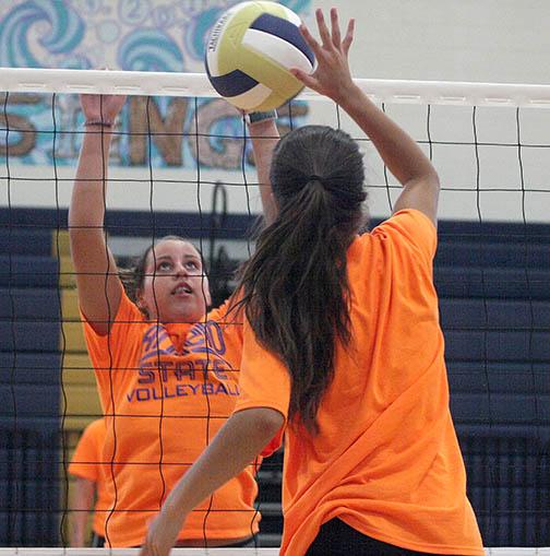 Honeybee volleyball practice 05