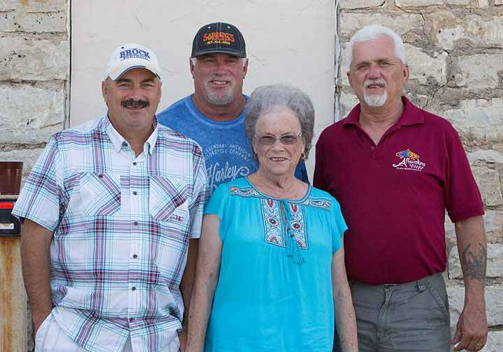 Barbra King and her birthday boys Michael, Randy and Sargent who were all born on the same day August 14 in 1960, 1963 and 1965.
