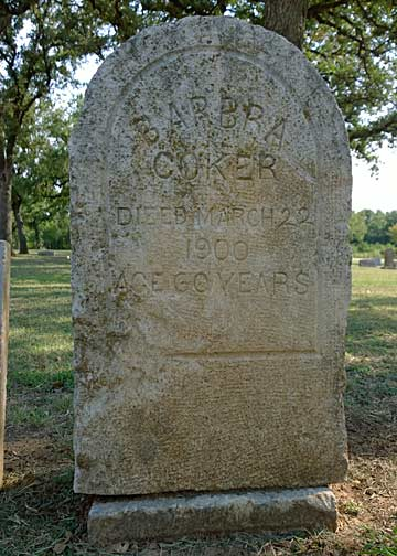 More than 115 years old Barbra Coker's headstone appears to have been possible made by a relative or friend. It has a misspelled and a premature building permit skipped a study that potentially overlooks washout due to drainage.