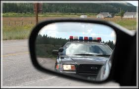 dwi police in mirror image
