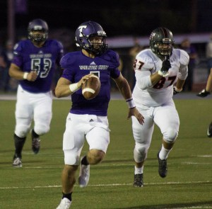 Zed Woerner accounted for 300 yards for Tarleton - 237 passing and 63 rushing. || Photo by CHET MARTIN