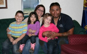 Danny and Amanda Terriquez recently moved their family from Florida to Erath County after Danny returned from his seventh tour of combat duty. The couple are pictured here with their children Adien, 8, Aliyah, 3, and Daniela, 4.    JESSIE HORTON photos