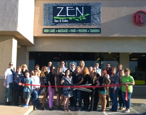 Zen Spa and Salon celebrated its move to the Bosque River Center with a Chamber of Commerce ribbon cutting Wednesday afternoon. || TheFlashToday.com photo by BRAD KEITH