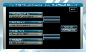 Screen Shot from NCAA Selection Show broadcast online.