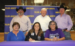 Katie Stewart signed with Tarleton State for rodeo Tuesday. || TheFlashToday.com photo by BRAD KEITH