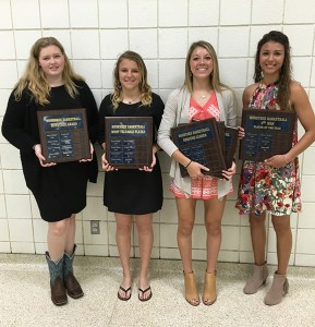 Honeybees earning special honors include (left to right) Kaitlyn Pierce, Kali Smith, Bayleigh Chaviers and Payton Wall.
