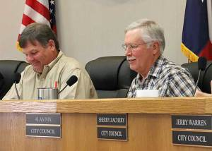 "Alan Nix (right) will serve as Stephenville's Mayor Pro Tem after being elected by the council. Rhett Harrison (left) turned down a nomination citing it was ""not the time."""