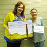 Julie Crouch of CTFAC with Shae Adams of the W. K. Gordon Center for Industrial History of Texas in Thurber. A special Paint The Town event will be held at the W.K. Gordon Center in Thurber on Sunday, September 11, beginning at 2 p.m. The next Paint The Town event in Stephenville will be on September 15.