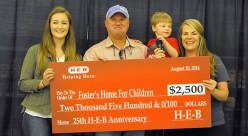 HEB Donation Foster's Home