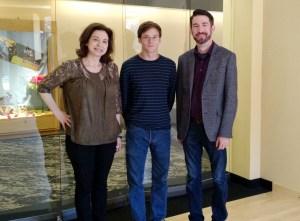 Dr. Teresa Davidian, Henry Shannon, and Dr. Brian Walker