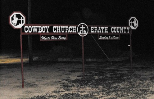 45 Cowboy Church Sign