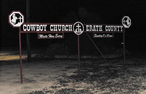 45 Cowboy Church Sign