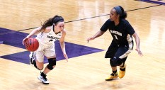 Freshman point guard Kylie Collins and Tarleton State visit Western New Mexico and Eastern New Mexico next week. || TheFlashToday.com photo by BRAD KEITH
