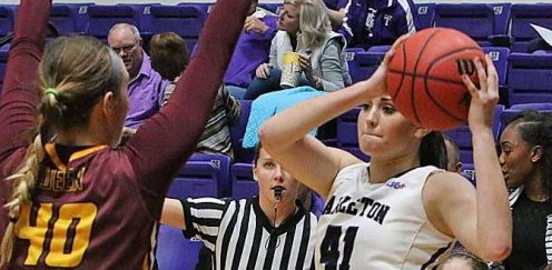 Tarleton sophomore center Mackenzie Hailey recorded her 10th double-double Saturday, collecting 15 points and 11 rebounds in a 69-57 win at Midwestern State. || Photo courtesy Dr. CHET MARTIN