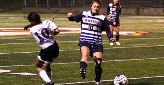 Ciara Johnston put four balls in the net at Springtown Friday, giving her six goals for the week. || Flash media file