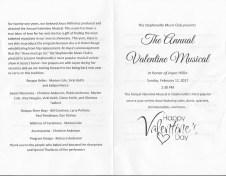 V-Day Musical Program cover