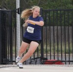 Alyssa Northcutt, shown throwing discus at the Region I-4A championships last spring, won that event last week in Hillsboro. || Flash media library
