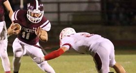 Anthony Rangel rushed for 1,723 yards and 23 touchdowns during the regular season, leading area 11-man players in both. || TheFlashToday.com photo by RUSSELL HUFFFMAN