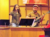Father and Daughter perform together