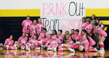 Stephenville celebrated senior day and also had pink-out benefit honoring Gilbert Intermediate School fifth-grade teacher Karen Wilson, all Friday at Gandy Gym. || The Flash Today/JESSIE HORTON
