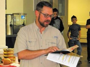 Mulberry Manor Christmas Pastor Kory Koch reads Scripture 2