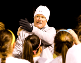 Coach Weil and Stephenville will judge their soccer season over the next month, even though the action leading up to spring break produced 19 queen sheets, 20 wins and a 13-match win streak. || The Flash Today photo by BRAD KEITH