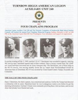 Four Chaplains Program 2 Four Chaplains Story Page 1