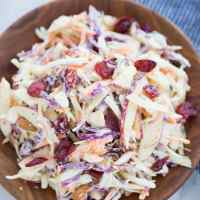 CREAMY APPLE SLAW WITH CRANBERRIES