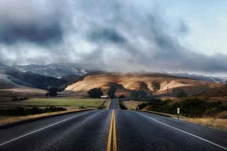 road landscape mountains nature